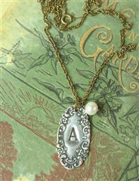Silver Spoon Initial Necklace