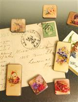 China Painting Magnets (Set Of 9)