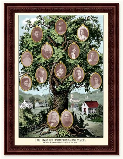 Currier And Ives Family Tree Framed