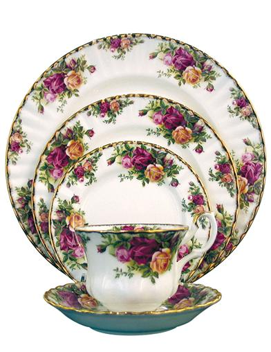 Old Country Roses Dish Set (5 Piece)