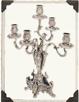 Five Flame Candelabra