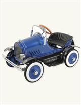 Deluxe Blue Pedal Car