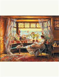 Reading In The Window (Pkg Of 6 Birthday Cards)