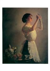 Woman By Tea Table (Pkg Of 6 Blank Cards)