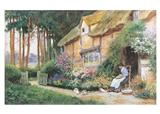 Cottage With Flowers (Pkg Of 6 Blank Cards)