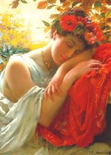 Woman Resting Head (Pkg Of 6 Blank Cards)