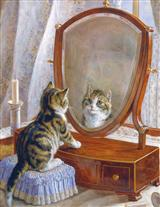 Kitten In Front Of Mirror (Pkg Of 6 Blank Cards)