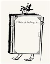 Book Man Rubber Stamp