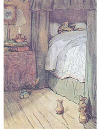 Cat Sleeping In Bed (Pkg Of 6 Get Well Cards)