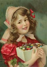 Girl With Sweets (Pkg Of 10 Holiday Cards)
