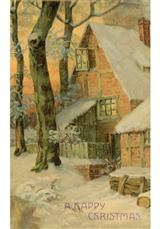 Happy Christmas Cottage (Pkg Of 10 Holiday Cards)