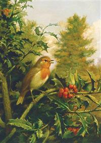 Sparrow In Holly (Pkg Of 10 Holiday Cards)