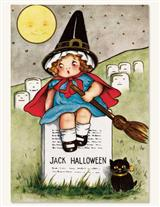 Halloween Witch Notecards (Pkg Of 8)