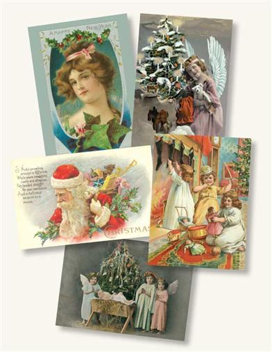 Vintage Christmas Postcard Assortment (Pkg Of 16)