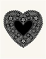 Rubber Stamp (Lace Valentine)