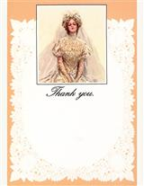 Bridal Panel Cards (Pkg Of 8 Thank Yous)