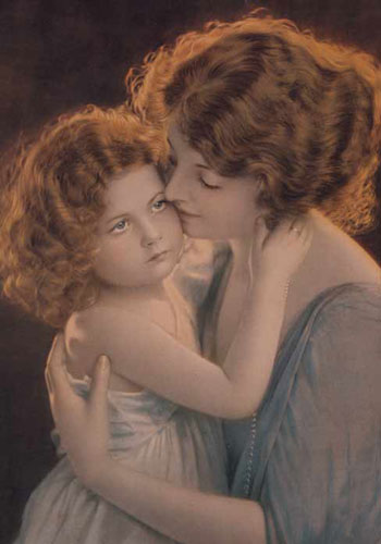 A Mother And A Daughter Share A Special Closeness. Happy Mother'S Day